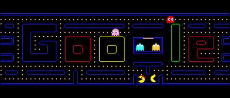 Google logo Pacman game