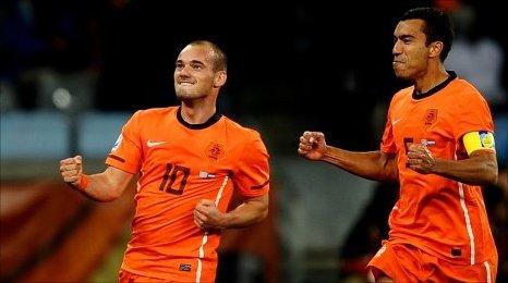 Jugadors holandesos celebren que s'han classificat per la final del mundial