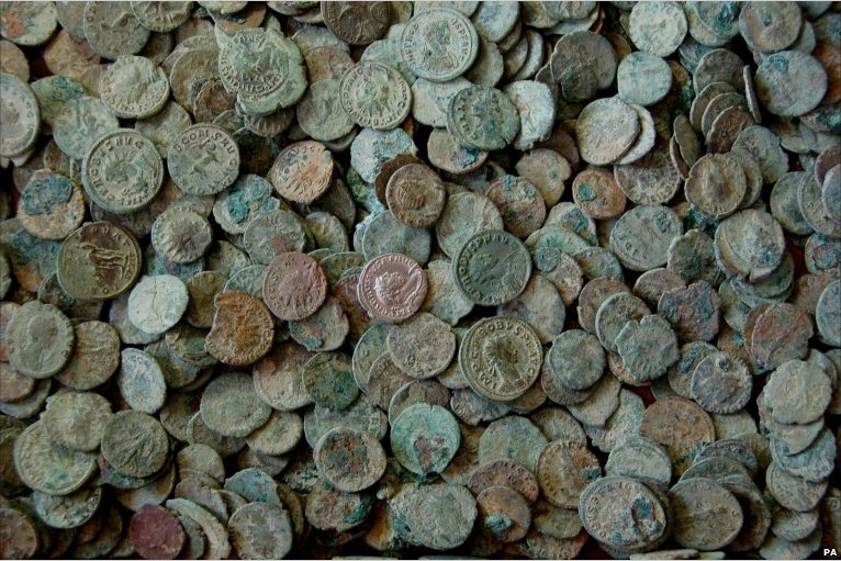 Hoard of coins dating back to Third Century AC