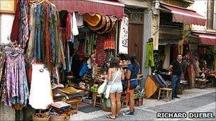 Shoppers on the Calderia Nueva, Grenada
