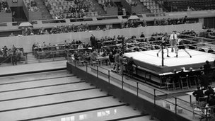 Boxing at the Empire Pool in Wembley