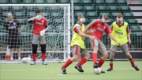 Blind England footballers