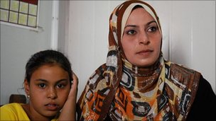 Zeinab Mayouf (L) and daughter Mariam