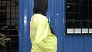 Mila, a 28-year-old woman at the Kewaja Shelter