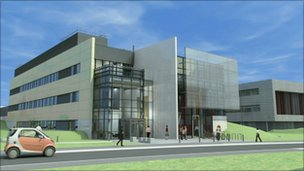 Artists impression of research centre