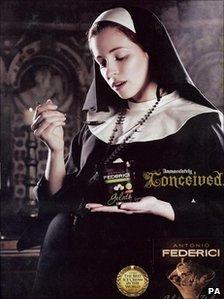 The advert for Antonio Federici ice cream