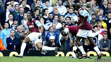 Frederic Piquionne scores for West Ham