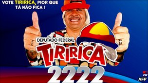 Campaign poster for Tiririca