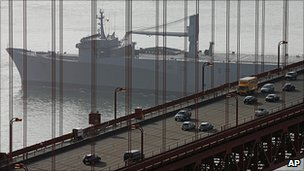 Traffic on the Golden Gate bridge (file pic)