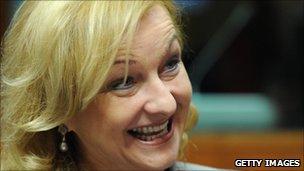 Austria's Interior Minister Maria Fekter
