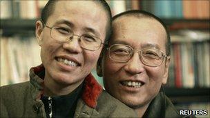 Liu Xiaobo and his wife Liu Xia
