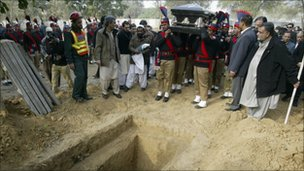 Burial in Lahore, 5 Jan