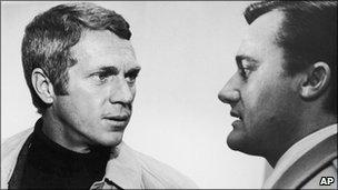 Steve McQueen and Robert Vaughn in Bullitt