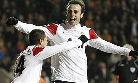 Javier Hernandez (left) and Dimitar Berbatov got the goals to help Man Utd beat Blackpool