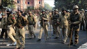 Police in Delhi