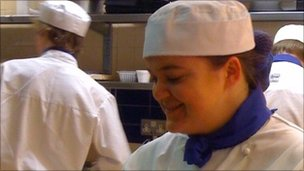 Michaela Fleming, catering student