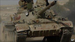 Rebel held main battle tank