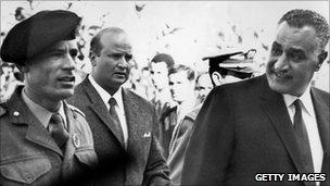 Gaddafi with Nasser