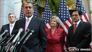 US Speaker of the House John Boehner speaking at a press conference on Friday