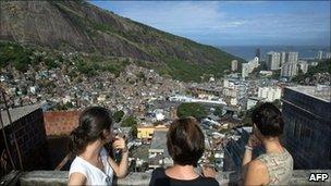 View over favelas in Rio de Janeiro, Brazil (file image)