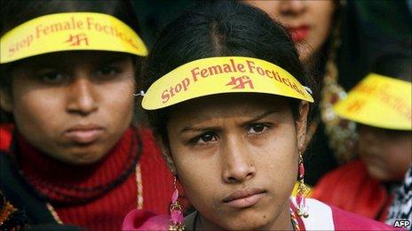 Mulheres protestam na India