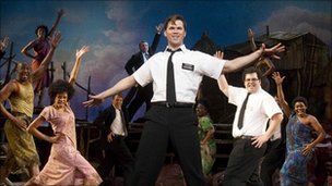 The Book of Mormon star Andrew Rannells (centre) also picked up an acting nomination