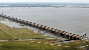 The Morganza Spillway - file photo