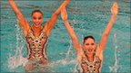 Competitors in the European Synchronised Swimming Champions Cup in Britain