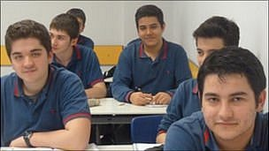 Pupils at one of the Gulen's schools