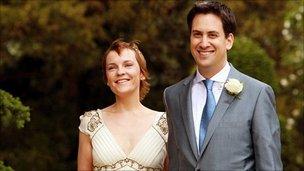 Justine and Ed Miliband