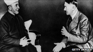 Grand Mufti Haj Amin el Husseini talking to Adolf Hitler in 1930