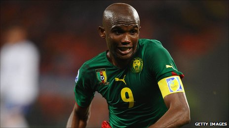 Cameroon and Inter Milan striker Samuel Eto'o