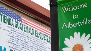 Signs in Albertville, Alabama