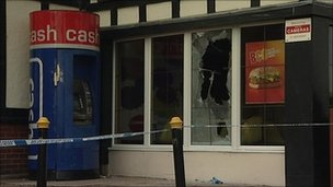 McDonald's restaurant in London Road, Headington after arson attack