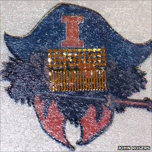 Sensor in a tattoo
