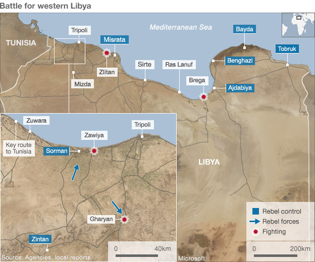 Libya fighting map