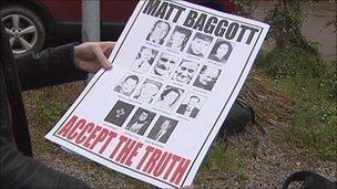 Poster criticising Chief Constable Matt Baggott