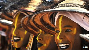 Tuareg women at the 2010 Festival of the Nomads in Ingall, northern Niger