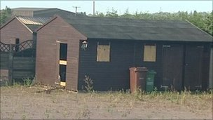 Shed at Greenacre travellers site