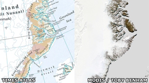 Map and satellite image