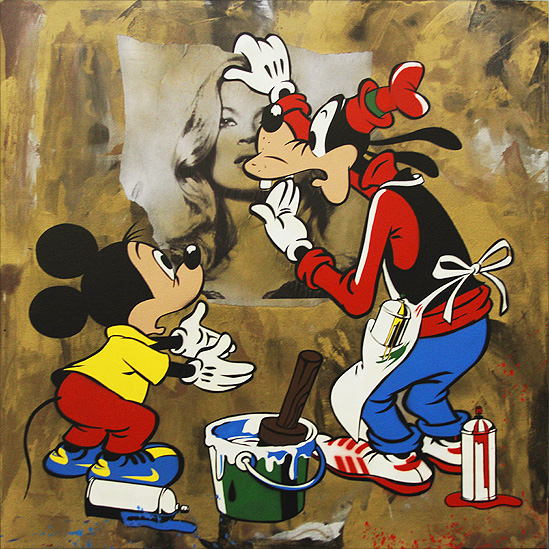 Micky and Goofy : Street Painters?