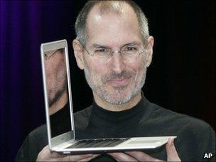 Steve Jobs and Macbook Air