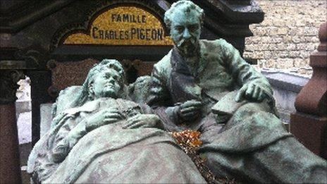 A gravestone in Montparnasse cemetery