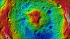 Vesta's south pole