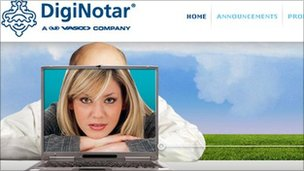 DigNotar homepage