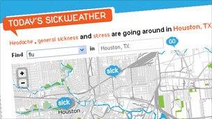 Sickweather website