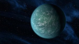 Artist's conception of Kepler 22-b
