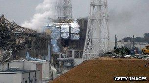 Damage at Fukiushima-Daichi plant (file photo)