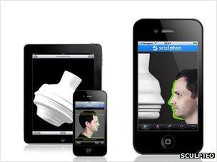 The Sculpteo app