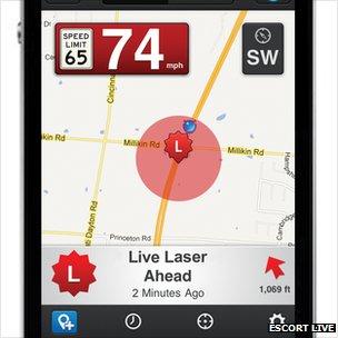 The Escort Live app